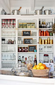 Home Inspiration- Pantries via A House in the Hills