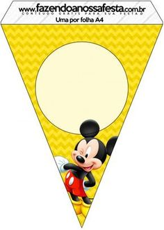 free printable banner minnie and mickey | Mickey Banner ...