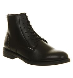 Vagabond Amina Stud Boot Black Leather - Ankle Boots