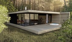 KABIN (www.kabin.ca) Tiny House Loft, Tiny House Trailer, Timber Cabin, Rest House, House On Stilts, Minimalist House Design, Castle House, Cabins And Cottages, Cabin Design