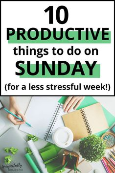 How to prepare for the week on Sunday. To ensure you have a productive week, do some Sunday prep and planning.enjoy a less stressful week ahead! Productive Things To Do, Habits Of Successful People, Sunday Routine, Sunday Activities, Productivity Quotes, Organized Mom, How To Stop Procrastinating, Time Management Tips, Self Development