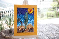 Mosaic made with venetian glass 82 x 62 cm  crmosaici@hotmail.com
