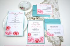 Wedding Blossoms: Turquoise and Pink Wedding Inspiration with Carnations
