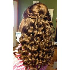 23 Prom Hairstyles Ideas for Long Hair ❤ liked on Polyvore featuring beauty products, haircare, hair styling tools and hair