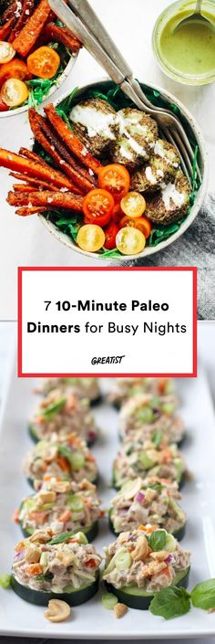 No hunting, fishing, or sprinting through the woods required.  #greatist https://greatist.com/eat/easy-paleo-dinners-to-make-in-10-minutes