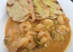 New Orleans Style Shrimp with Grilled Sourdough/ TonjasTable.com