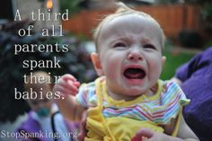 A third of all parents spank their babies.