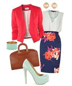 Chic Office Wear. Colors done right too.