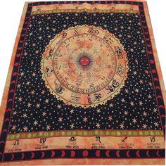 ASTROLOGY Horoscope Zodiac Hippie Hippy Curtain Wall by Labhanshi, $25.99