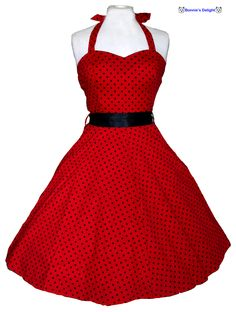 Image detail for -1950s Rockabilly Swing Dress - Red & Black - Bonnie's Delight
