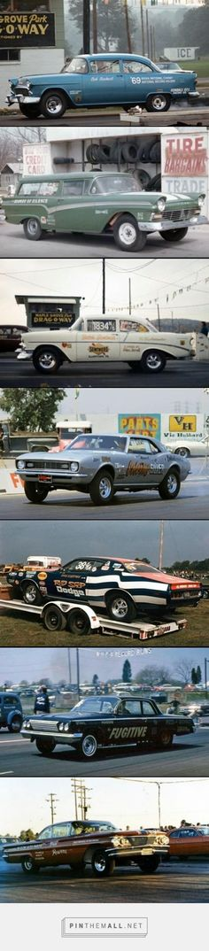 Drag cars in the stock classes