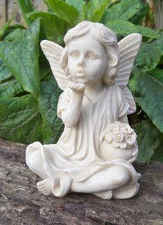 Garden Fairy Blowing A Kiss Garden Ornaments Angels