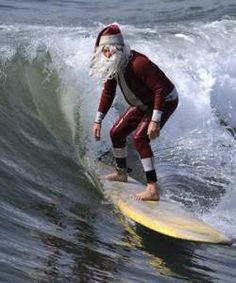 Surfing Santa #Hawaii
