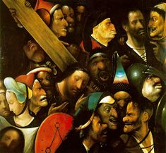 Bosch again, c. 1490...all those interesting expressive faces. and then that particular one in the middle...