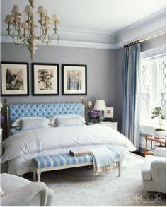 Loving the pops of blue...(lookbook.elledecor.com)