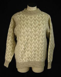 Polarknit Icelandic Cream Tan Print Arctic Sheep Wool Ski Sweater Sz S Product Description Pre Owned In Excellent ConditionSee Below For Details Brand