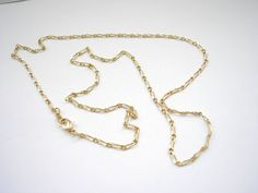 Vintage gold tone metal classic chain by badgestuff on Etsy, $3.00