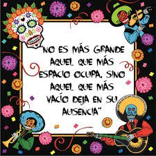 This frase is true. The absence is emptiness. Mexican Party, Ideas Para Fiestas, Samhain, Day Of The Dead, Picture Quotes, Halloween Party, Halloween Ideas, Happy Halloween, Messages