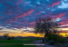 #5 at sunset #arizona #scottsdale #golfcourse #golf #golfclub #sunset #ancala #sky
