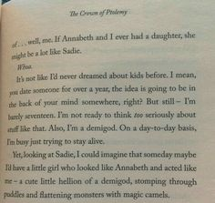 Percabeth thinking about kids