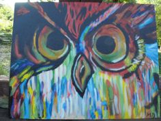 J'adore this abstract owl painting. By PaintingbyMichelle on Etsy, $23.00