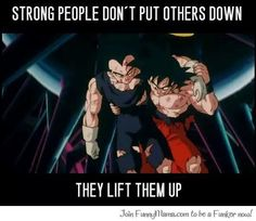 Lesson from Dragon Ball Z...