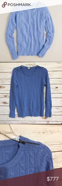"""J. Crew Cambridge Cable Zip Crewneck Sweater 🦄 Size small. 'We've updated our classic cable crewneck with a new yarn that's softer & loftier for a look that's ultrasoft & undeniably chic. In crush-worthy colors that will keep you coordinated all season long."""" Finished with zipper detailing at both shoulders. Material is viscose, nylon, wool & angora in a 7-gauge knit. Hits at hip. 🦄 J. Crew Sweaters Crew & Scoop Necks"""
