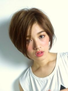 Pin on 美容 Pin on 美容 Inverted Bob Hairstyles, Short Pixie Haircuts, Short Hairstyles For Women, Cool Hairstyles, Japanese Haircut, Japanese Hairstyle, Asian Short Hair, Short Hair Cuts, Medium Hair Styles
