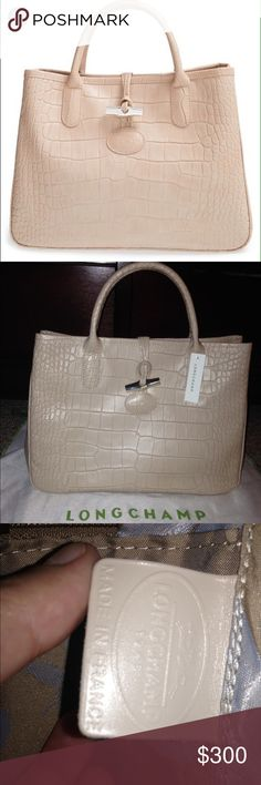 Longchamp Roseau Brand new with tags and dust bag. Size small handbag. Made in France. Longchamp Bags Totes