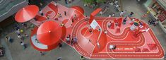 red planet, an unconventional playground by 100architects in a shopping center in shanghai