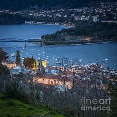 Pontedeume from Vista Alegre Galicia Spain