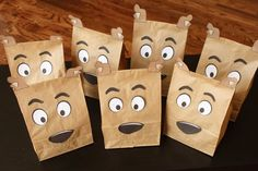Planning a Scooby Doo themed party and want the cutest favor bags ever? Transform ordinary brown paper bags into doggie-faced treat bags that look