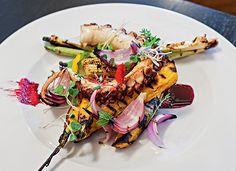 Polvo grelhado com mandioquinha e legumes / Receita de Viviane Gonçalves, do Chef Vivi
