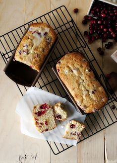 Glazed Cranberry-Lemon Crystallized Ginger Loaf is great as a breakfast treat or afternoon snack with a warm beverage.Get the delicious recipe here. Cranberry Bread, Cranberry Recipes, Ginger Loaf, Bon Dessert, Dessert Ideas, Recipe Filing, Afternoon Snacks, Sugar And Spice, Baking Recipes