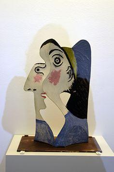Tête de Femme - Mougins 1962 - Tôle coupée, pliée, peinture polychrome recto/verso ! Pablo Picasso, Paris, Bookends, Decor, Paint, Woman, Montmartre Paris, Decoration, Paris France
