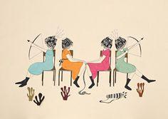 Lamp Ladies by Estibaliz Hernandez de Miguel, via Behance