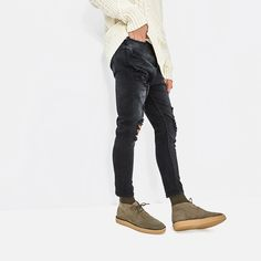 Image 2 of BEIGE LEATHER LACE-UP ANKLE BOOTS from Zara