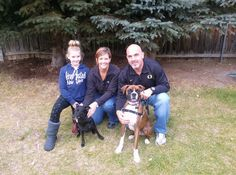 Beau (aka Stripey Bob) has been adopted by the Myers family!! Here he is with his new family! Beau has gained a fur sister and human sister! The Myers family is very active and fun and they all fell in love right away! Look at that happy smile on Beau's face!! Happy trails Beau and thanks Myers family for rescuing!!
