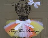 Candy Corn CutieOrange Yellow White by TinyTutuBoutique on Etsy