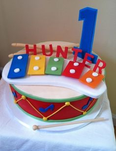 Musical Themed Cake By Ashleyssweetdesigns on CakeCentral.com