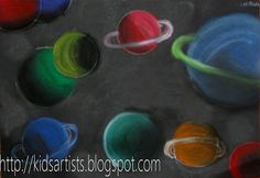 Kids Artists: chalk pastel
