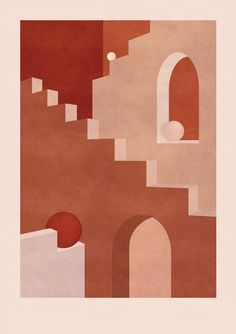 This is an exclusive limited edition print by young British illustrator, Charlotte Taylor, inspired by the work of iconic Spanish Architect Ricardo Bofill. 2018. Numbered in limited editions of 15 High quality print on 310g Fine Art Rag White Hahnemühle paper Large format in A1 (23.4 x 33.1 in) or A Ricardo Bofill, Charlotte Taylor, Popular Pins, Rose, Turbulence Deco, Illustration, Terracotta, Decoration, Cool Pins