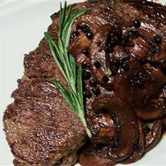Merlot-Peppercorn Steak Sauce Recipe - DELICIOUS, but I quadrupled the recipe and added over a cup of beef stock to it as well.