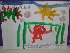 Violette's drawing of her classroom with her and her teachers in there with her. #JohnColetSchool #kids #painting
