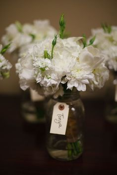 white bouquets for bridesmaids?