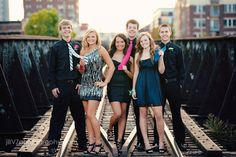 Cute idea for a group shot for homecoming. Must get the group together.
