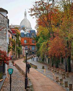 L'automne à Paris. Paris in the fall. Montmartre.