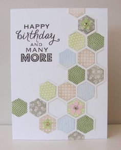 Stamped Hexagons 2