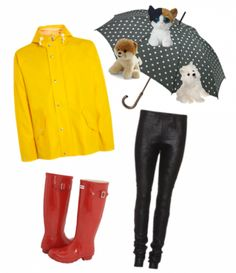 The best costume idea for a speech therapist!! be the idiom its raingin cats and dogs!