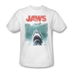 Looking for the perfect White Jaws 1975 Shark Thriller Spielberg Movie Color Poster Adult Tank Top Shirt? Please click and view this most popular White Jaws 1975 Shark Thriller Spielberg Movie Color Poster Adult Tank Top Shirt. Jaws Movie, Movie T Shirts, Graphic Shirts, Retro Shirts, Slim Man, Tank Top Shirt, Vintage Posters, Shark, T Shirts For Women